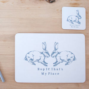 Hop It! Placemat Or Coaster - easter home