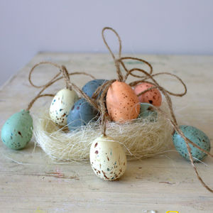 Box Of Six Speckled Easter Eggs