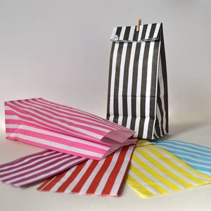 Striped Paper Party Bags - new in wedding styling