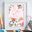 Personalised Children's Watercolour Effect Wall Print