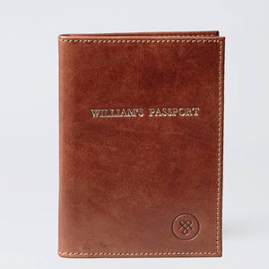 The Finest Personalised Leather Passport Holder - gifts from adult children