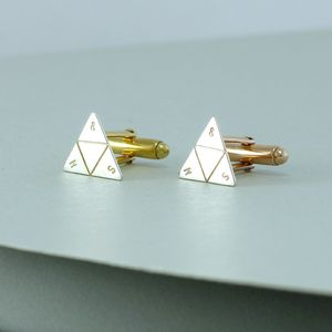 Personalised Silver Prism Cufflinks