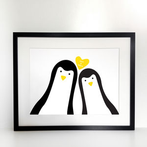 Penguin Me And You 'Selfie' Print