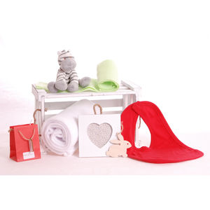 Zebra And Blanket Baby Gift Hamper - food & drink sale
