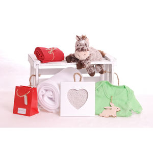 Happy Horse Blanket And Frame Baby Gift Hamper - food & drink sale