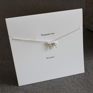 Unicorn Silver Plated Charm Necklace - children's jewellery