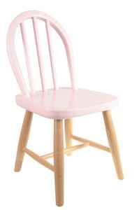 Kids Retro Wooden Chair In Soft Pink