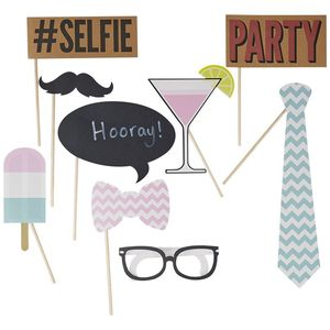 Chevron Selfie Party Photo Booth Kit - hen party gifts & styling