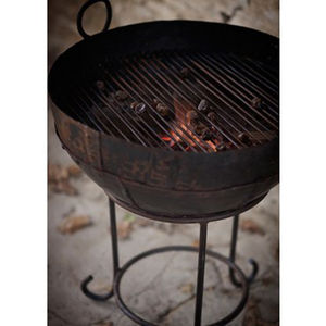 Cast Iron Fire Bowl / Kadai With Stand