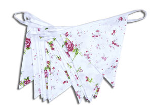 Floral Cottage Garden Bunting - room decorations