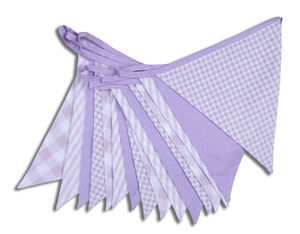 Shades Of Lilac Cotton Bunting - outdoor decorations
