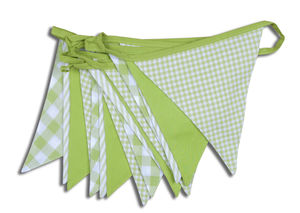 Shades Of Green Cotton Bunting - bunting & garlands