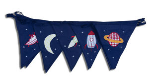 Fly Me To The Moon Cotton Bunting - home accessories
