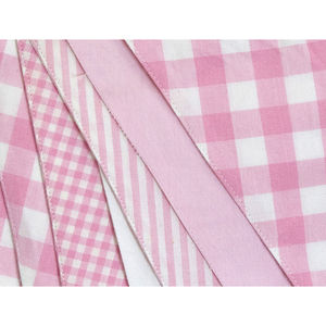 Shades Of Pink Cotton Bunting - children's room