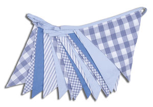 Shades Of Blue Cotton Bunting - children's decorative accessories