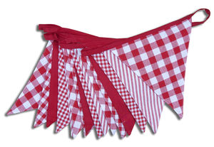 Shades Of Red Cotton Bunting - outdoor decorations