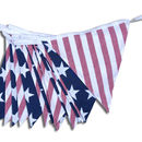 USA Stars and Stripes Cotton Bunting