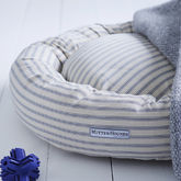 Ticking Stripe Donut Dog Bed - pets