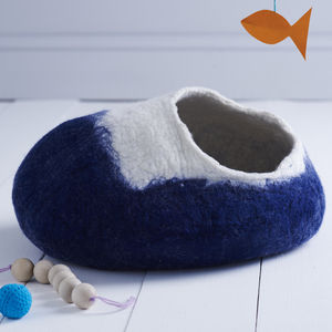 Cat Bed Cave Cocoon And Ball - stylish pet accessories for the home