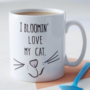 'Love My Cat' Ceramic Mug - exclusive to us