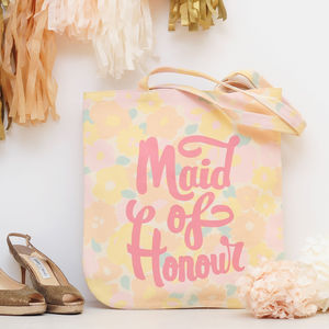 'Maid Of Honour' Floral Tote Bag - the morning of the big day