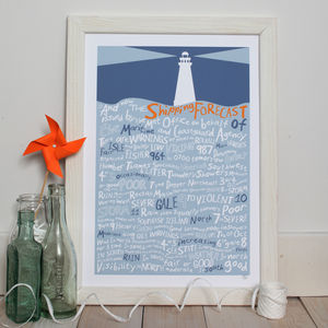 'And Now The Shipping Forecast…' Giclee Print - prints for christmas