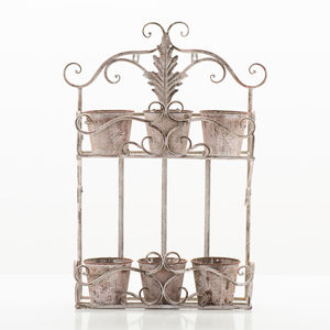 Steel Two Tiered Wall Planter