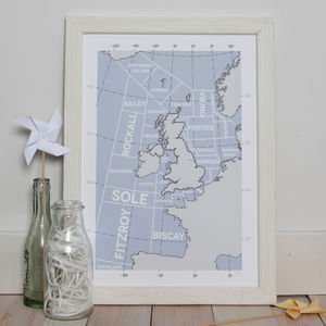 Shipping Forecast Regions Giclee Print - contemporary art