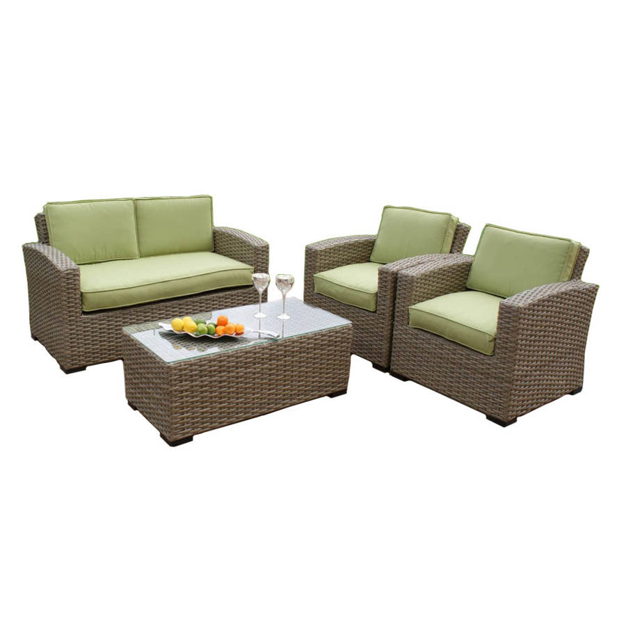 Wide weave small sofa set by out there exteriors for Wide couches