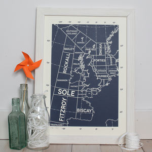 Shipping Forecast Limited Edition Screen Print - maps & locations