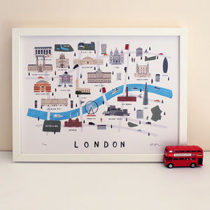London Map Print - drawings & illustrations