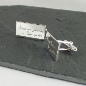 Personalised Engraved Cufflinks In Silver - men's accessories
