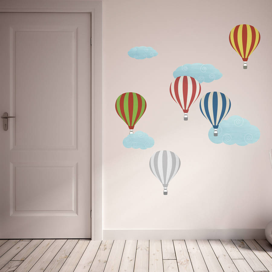 Delicieux Patterned Hot Air Balloon Wall Stickers