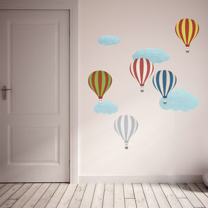 Patterned Hot Air Balloon Wall Stickers - children's decorative accessories