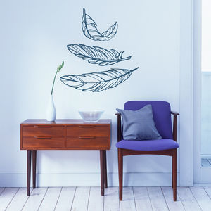 Feather Wall Stickers - wall stickers