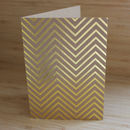 Silver Or Gold Foil Chevron Geometric Greetings Card