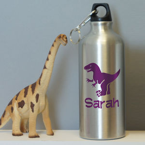 Personalised Dinosaur Water Bottle - dinosaur inspired children's room