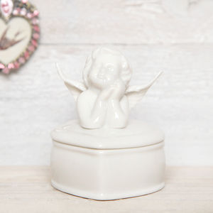 Ceramic Angel Trinket Box - bedroom