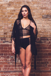 Astra Black Lace Dressing Gown