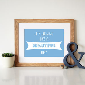 Elbow 'One Day Like This' Song Lyrics Print