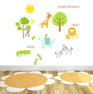Jungle Brights Fabric Wall Stickers - wall stickers