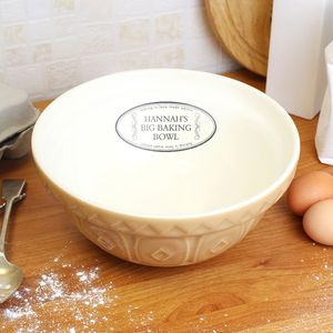 Personalised 'Big Baking Bowl' - gifts for bakers