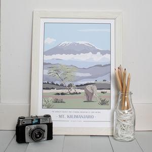 Mt. Kilimanjaro Giclee Print, Customisable - contemporary art