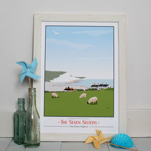 Seven Sisters Country Park, East Sussex Giclee Print - nature & landscape