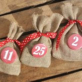 Christmas Advent Badges And Treat Bags - christmas