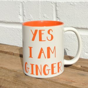 Yes I Am Ginger Mug - mugs