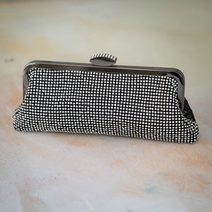 Black Crystal Clutch Evening Bag