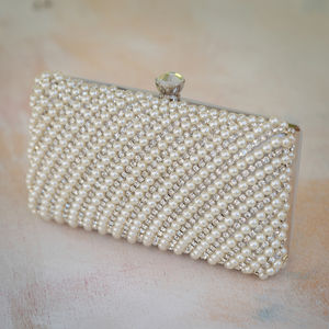 Jewel And Pearl Clutch Bag - whatsnew
