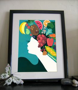 'Fruity Lady Hegemone Limited Edition Print'