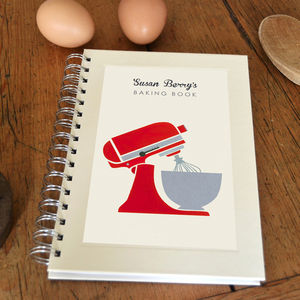 Personalised Mixer Cook's Notebook - gifts for mothers